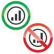 Volume scale permission signs - stock illustration