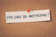 You can do anything - stock photo