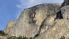 Half Dome rock in the beautiful Yosemite National Park Stock Footage