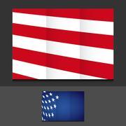 Stock Illustration of US trifold template illustration design