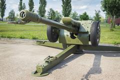 Soviet Howitzer D-30, 122 mm Stock Photos