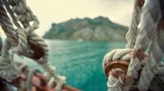 Ropes on the Boat Stock Footage