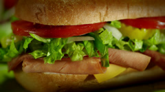 Sandwich close up Stock Footage