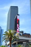 LAS VEGAS, NV - APR 12: The Cosmopolitan hotel on Las Vegas Strip on April 12 Stock Photos