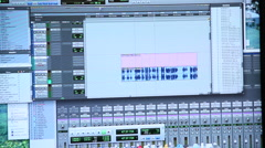 ProTools audio program Stock Footage