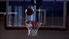 Basketball hoop swish Stock Footage
