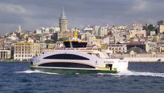 New ferries in Istanbul waters Stock Footage