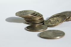 top 25 cent coins - stock photo