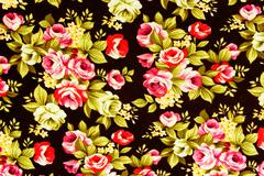 textured fabric  of rose vintage style - stock photo
