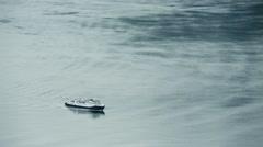 Ferryboat in Norwegian Fjord Stock Footage