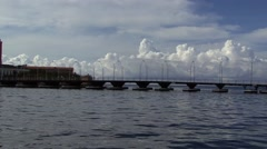 Stock Video Footage of Curacao Bridge Carribean Island