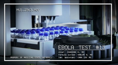 Test a vaccine against Ebola infection, in a laboratory tube Spinner Machine Stock Footage