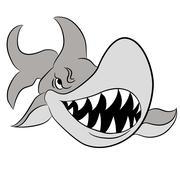 Cartoon Great White Shark Piirros