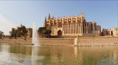 Cathedral of Palma de Mallorca - stock footage