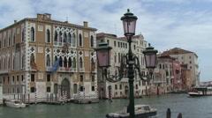 Venice canals gondolas bridges Stock Footage