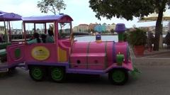 Tourist car train Stock Footage