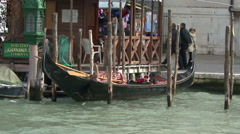 Venice canals gondolas bridges - stock footage