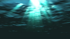 Underwater ocean waves ripple and flow with light rays - Water FX0309 HD, 4K - stock footage