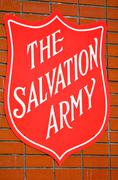 Stock Photo of The Salvation Army Red Shield sign