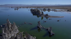 AERIAL: Amazing picturesque Mono Lake landscape - stock footage