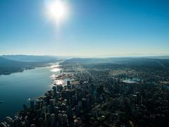 Aerial view of downtown Vancouver  BC Canada Stock Photos
