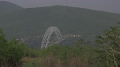 Ghana Volta river bridge 4K Stock Footage