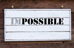Inspirational message - Word Possible changed from Impossible - stock photo