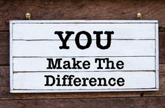 Inspirational message - You Make The Difference Stock Photos