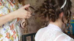 Wedding hairstyle Stock Footage