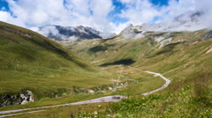 Stelvio in a timelapse movie Stock Footage