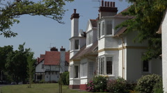 Houses in arts and crafts architecture, Port Sunlight village Wirral, England - stock footage