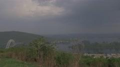 Ghana Volta river pan bridge 4K Stock Footage