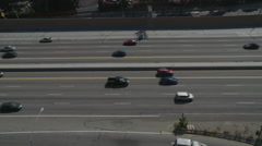 Bird's Eye View of commuters on highway Stock Footage