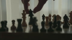 Slow Motion Chess Game, Checkmate Queen takes King Stock Footage