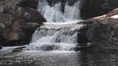 Linville Falls Waterfall Closeup - Virginia Stock Footage Stock Footage