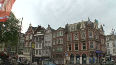 Amsterdam Muntplein Square and Muntorren 2 Stock Footage