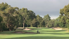 Beautiful Golf Scene - Melbourne Sandbelt Stock Footage