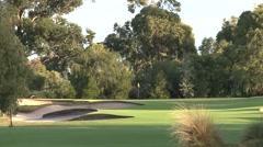 Amazing Golf Scene - Melbourne Sandbelt Stock Footage
