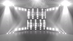 music concert stage 3d colorless Stock Footage