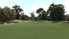 Beautiful Greens Setting Melbourne Sandbelt Stock Footage