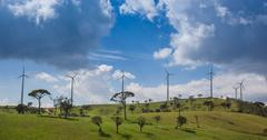 Eco power, wind turbines Stock Photos