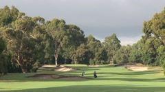 Generous Fairway at Huntingdale GC - 10th Hole Stock Footage