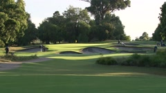 Beautiful Par 3 Early Morning - stock footage