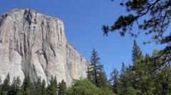 El Capitan Rock in Yosemite National Park, California - stock footage