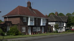 Houses, arts and crafts architecture, Port Sunlight village Wirral, England - stock footage
