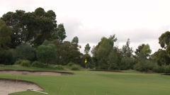 Classic Melbourne Sandbelt Golf - Huntingdale Hole 5 Stock Footage