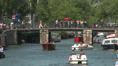 Rozengracht Boats, Amsterdam Stock Footage
