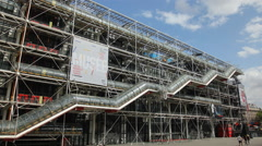 Centre Pompidou, Paris Stock Footage