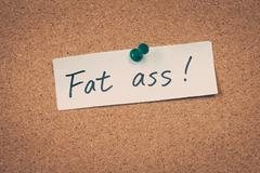 Stock Photo of Fat ass