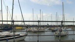Hill Head Harbour in Hampshire Stock Footage